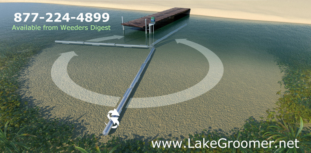 The Lake Groomer for Ridding Lakes Ponds of Muck - Rollers remove lake weeds and Sludge